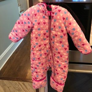 Hatley heart snowsuit for baby